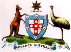 First Coat of Arms - Australia 1908 - Coat of Arms - Australia 1908