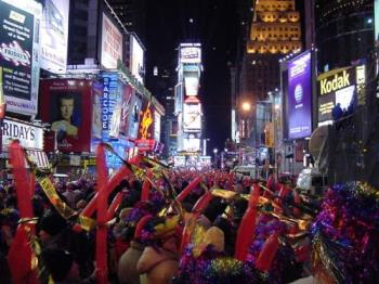 NEW YEAR'S EVE IN TIMES SQUARE!! - I love to spend a new year's eve and day at  NYC because it is very exciting and fun place to be!!