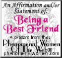 .......it's not everyone's cup of tea!! - being the best of friends