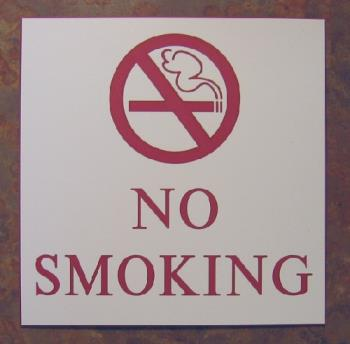 No Smoking Sign - i've stopped from this last year