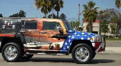 Traveling for a Cause - Picture of a traveling Hummer In memory of