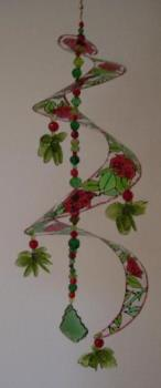 Rose whirly gig - Hand painted suncatcher. Hope it comes out ok.