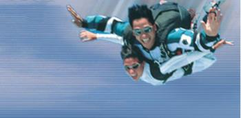 TANDEM SKYDIVE - Skydiving is an awesome experience.  Your first jump will most likely be a tandem jump with a certified instructor following a lesson