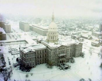 capitol in snow - the capitol in snow