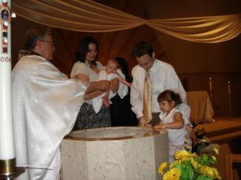 baptism - my girls getting baptized