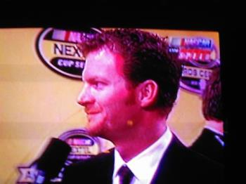 Dale Jr. - another picture Of Dale Jr. I took of him on TV..