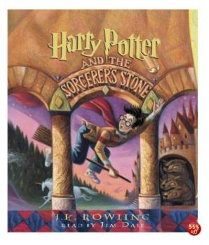 Harry Potter 1 - it's cover of harry potter n the socretes stone. the first JK Rowling book ^-