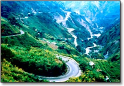baguio, philippines - this is a picture of the famous zigzag road in Baguio, Philippines. Visit the place! The climate is very cool. Food's great too!