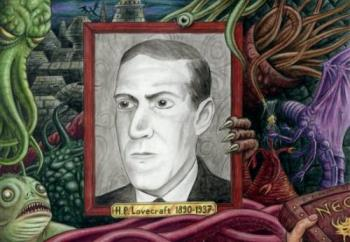 Lovecraft - Lovecraft with the myth of Cthullu