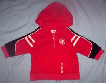 One of the items I have just sold on ebay... - This is one of the items that I have just sold on ebay. I sell preloved quality babies and childrens clothing, this is a size 0 Holden jumper that I sold for ten dollars- which I think was great! Official merchandise such as this, as well as brand names seem to sell really well.