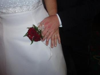 our wedding rings - picture of our wedding rings