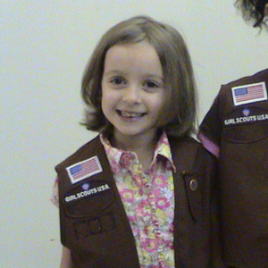 My brownie - My daughter at her Brownie investiture ceremony in November.