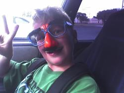 Groucho Glasses - I brought some home for my son yesterday, this is him, very silly...