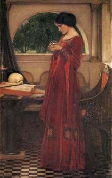 The Crystal Ball - The Crystal Ball by John William Waterhouse painted in 1902