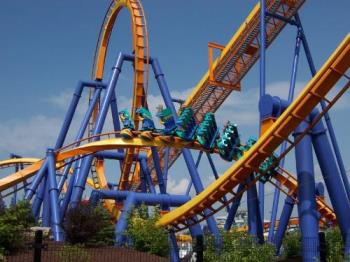 Talcon roller coaster - Dorney Park in Allentown, Pa. This is a picture of one of their roller coasters.