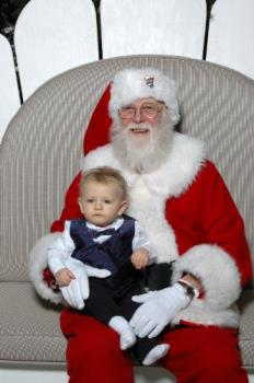 Visiting Santa for the first time - My great nephew with Santa
