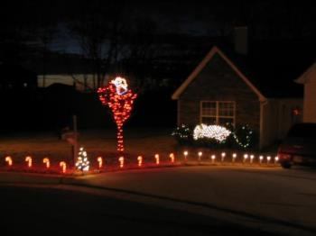 christmas decorations - house and christmas decorations