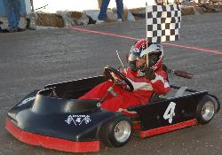 Racing - My youngest after his frist win.