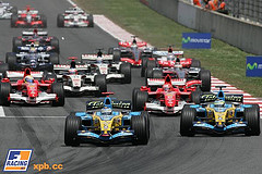 Formula 1 - a typical formula 1 race