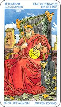 tarot card - The King of Pentacles card