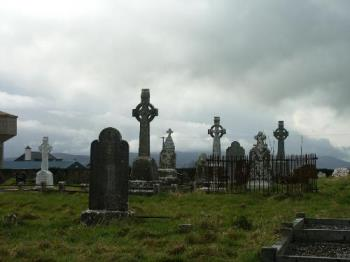 Large Graveyard - A picture of a graveyard.