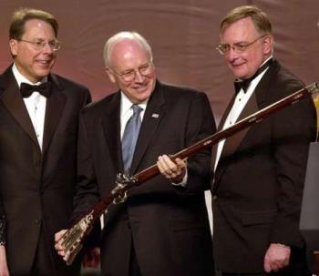 Cheney holding Gun - Cheney holding Gun