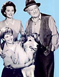 Lassie - Lassie with Gramps, Jeff, and Jeff's mom Ellen