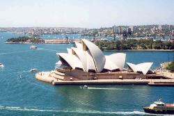 Sydney Harbour with Opera House - Sydney Harbour and Opera House, Australia