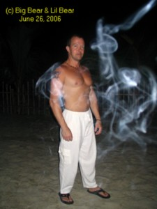 Big Bear the genie - ready for a night out on the island, Puerto Galera