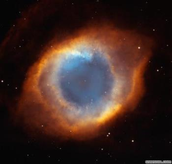 The Eye of God upon us!! - This is a phot  taken by a NASA satlite that depicts an unusual pattern in a hevenly body that looks like a giant eye.  Thus this pattern has been refered to as The Eye of God