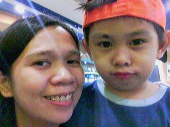 My Eldest Son - it's me and my son at the mall