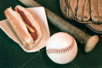 hot dogs and baseball - American Traditions