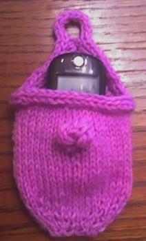 cell phone cosy - this is a cell phone cosy/pouch to protecy the phone from scratches