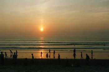 sunset kuta beach - kuta beach