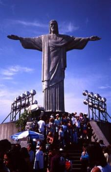 some statue in brazil - I don't know what this statue is called, but I know that it is somewhere in Brazil.