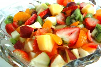 fruit salad  - it is very good for up coming childen and the people who are sufefring the weight loss.