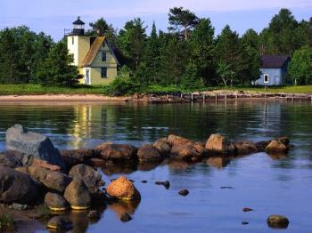 Bette Grise Lighthouse, Lake Superior, Upper Penin - Bette Grise Lighthouse, Lake Superior, Upper Peninsula, Michigan