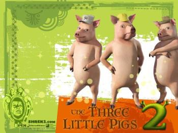 Three Little Pigs - The three little pigs as depicted in Shrek 2