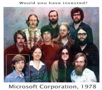 one rare image of founders of microsoft co. - rare pic