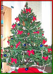 Christmas tree - it's a decorated christmas tree