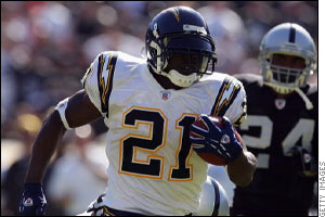 Ladanian Tomlinson of the San Diego Chargers - Ladanian Tomlinson of the San Diego Chargers. Single season touchdown king!