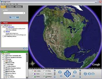 Google Earth - This is a picture of google earth