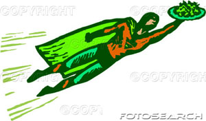 superman cartoon - it is a superman cartoon in which it take something in his hand..