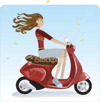 Girl is riding a bike - Looks good