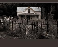 Old House - Taken in a small community. House may not be there anymore. Was changed from color to sepia to get the older look effect.