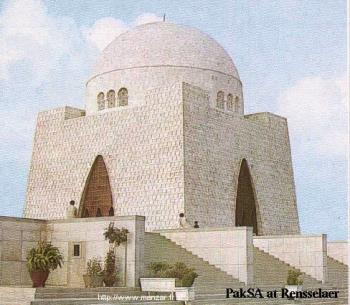 Mazar-e-Quad-e-Azam - Tomb of founder of Pakistan in Karachi.