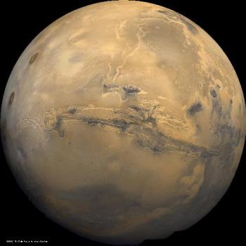 Mars - This a picture of Mars in space.