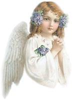 angels - angel girl in prayer