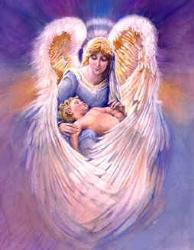 Angels - Guardian Angel with a Child