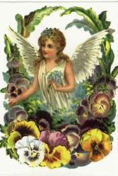 angels - A lady angel is a garen of flowers